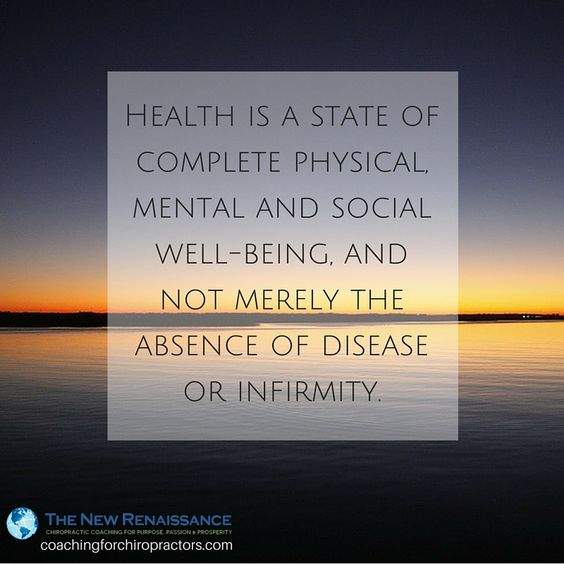 healthy is a state of well being