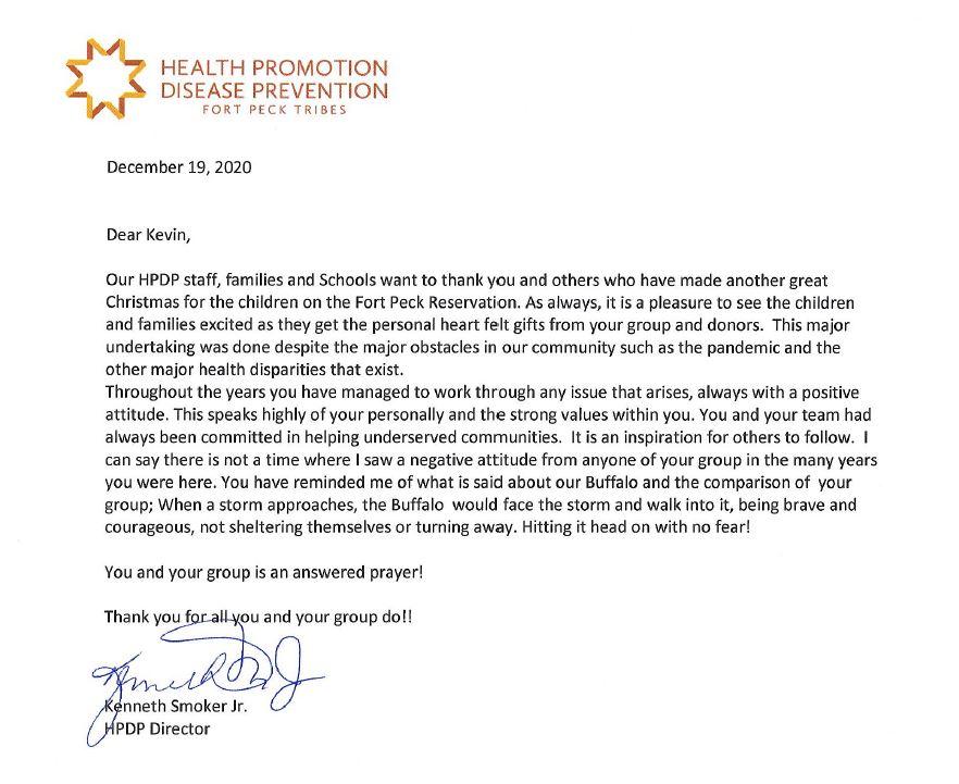 Kenny's Letter